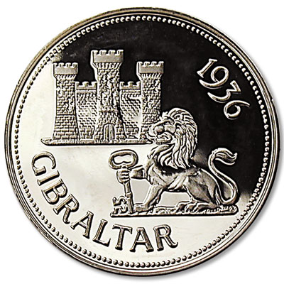 Image for 1936 Gibraltar Edward VIII Fantasy Crown from Littleton Coin Company
