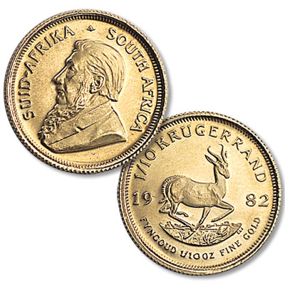 Image for 1980-Date South Africa Gold 1/10 oz Krugerrand from Littleton Coin Company