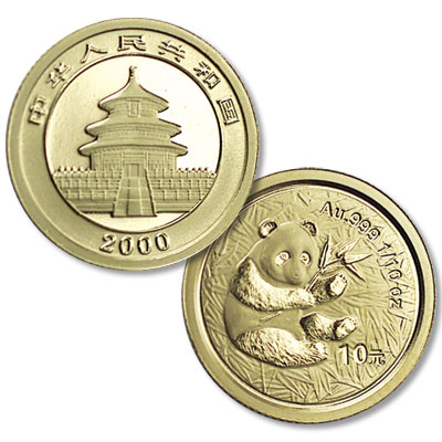 Image for 1982-Date China Gold 1/10 oz. Panda from Littleton Coin Company