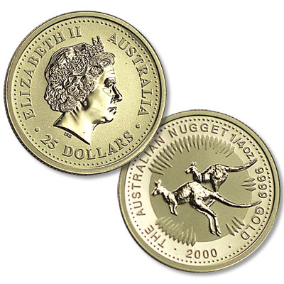 Image for 1989-Date Australia 1/4 oz Gold $25 Kangaroo from Littleton Coin Company
