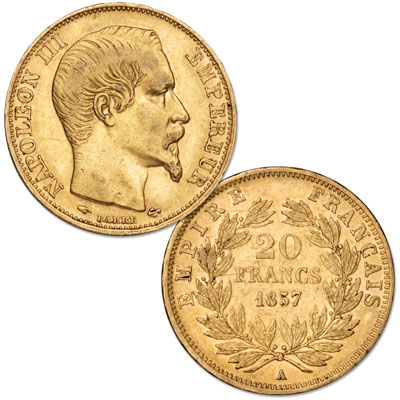 Image for 1852-1870 France Gold 20 Francs from Littleton Coin Company
