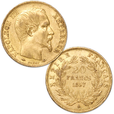 Image for 1852-1870 France Gold 20 Francs in Air-Tite from Littleton Coin Company