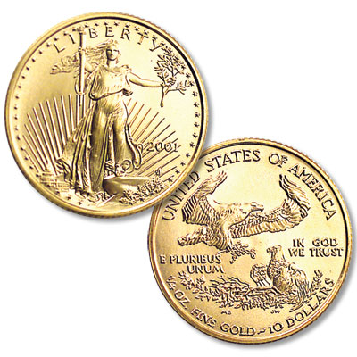 Image for 1986-Date $10 Gold American Eagle, 1/4 oz., Uncirculated from Littleton Coin Company