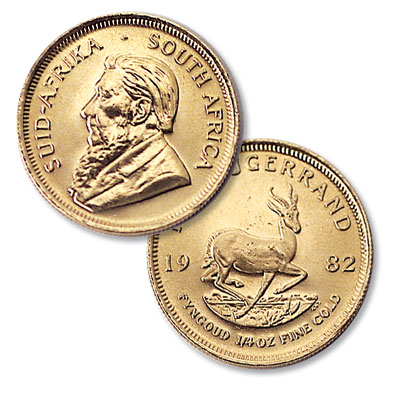 Image for South Africa 1/4 oz Gold Krugerrand from Littleton Coin Company