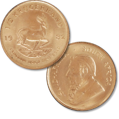 Image for South Africa 1/2 oz Gold Krugerrand in Air-Tite from Littleton Coin Company