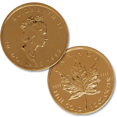 Image for Canada Gold $20 Maple Leaf from Littleton Coin Company