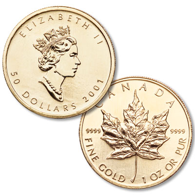 Image for Canada 1 oz Gold $50 Maple Leaf from Littleton Coin Company