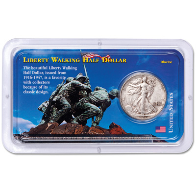 Image for 1916-1947 Liberty Walking Half Dollar in Showpak from Littleton Coin Company
