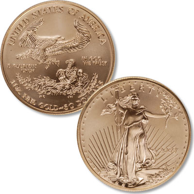 Image for 1986-Date $50 Gold American Eagle, 1 oz., Uncirculated from Littleton Coin Company