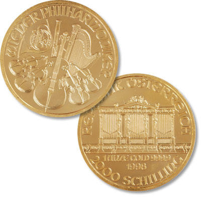 Image for Austria Gold 2,000 Schilling Philharmonic in Air-Tite from Littleton Coin Company