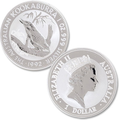 Image for 1992 Australia 1 oz Silver $1 Kookaburra from Littleton Coin Company