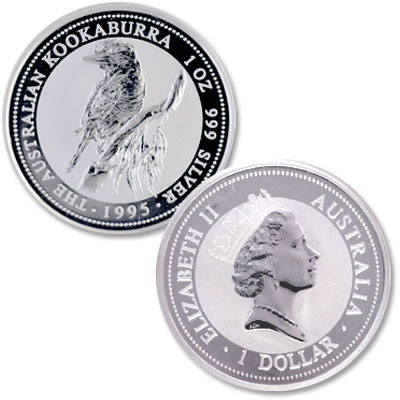 Image for 1995 Australia 1 oz Silver $1 Kookaburra from Littleton Coin Company