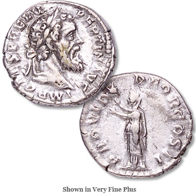 Image for A.D. 193 Pertinax Silver Denarius from Littleton Coin Company