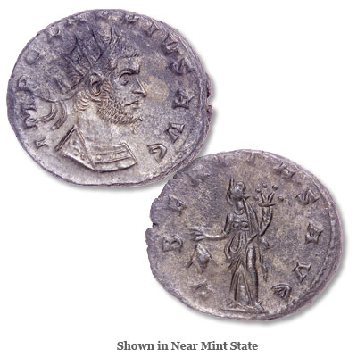 Image for A.D. 268-270 Claudius II Billon Antoninianus from Littleton Coin Company