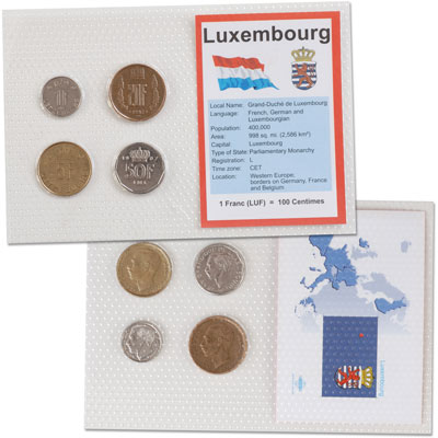 Image for Luxembourg Coins in Display Card from Littleton Coin Company