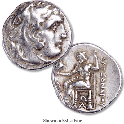 Image for 322-275 B.C. Alexander The Great Posthumous Silver Drachm from Littleton Coin Company