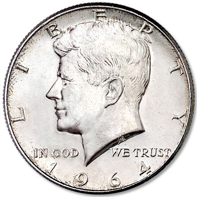 Image for 1964 Kennedy Half Dollar, 90% Silver from Littleton Coin Company
