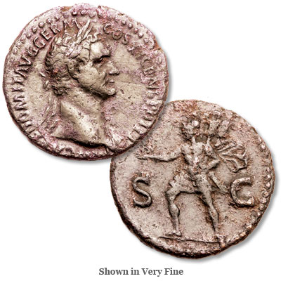 Image for A.D. 81-96 Domitian Bronze As from Littleton Coin Company