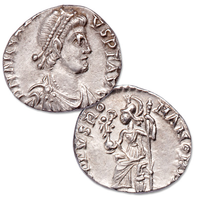 Image for A.D. 383-408 Arcadius Silver Siliqua from Gussage All Saints Hoard from Littleton Coin Company