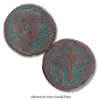 Image for A.D. 117-138 Hadrian Bronze As from Littleton Coin Company