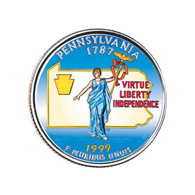 Image for 1999 Colorized Pennsylvania Statehood Quarter from Littleton Coin Company