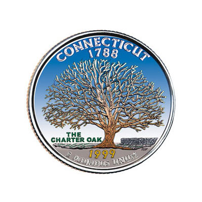 Image for 1999 Colorized Connecticut Statehood Quarter from Littleton Coin Company