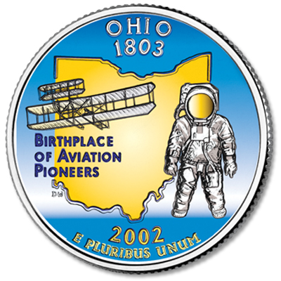 Image for 2002 Colorized Ohio Statehood Quarter from Littleton Coin Company