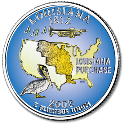 Image for 2002 Colorized Louisiana Statehood Quarter from Littleton Coin Company