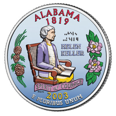 Image for 2003 Colorized Alabama Statehood Quarter from Littleton Coin Company