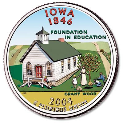 Image for 2004 Colorized Iowa Statehood Quarter from Littleton Coin Company