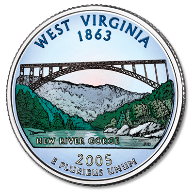 Image for 2005 Colorized West Virginia Statehood Quarter from Littleton Coin Company