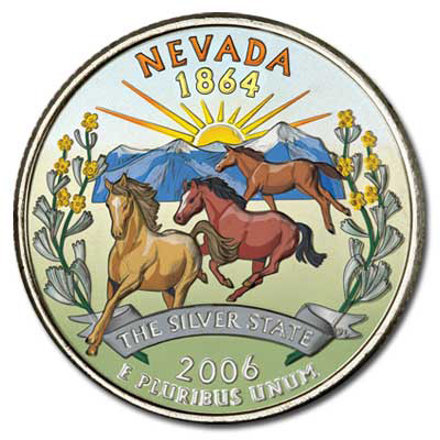 Image for 2006 Colorized Nevada Statehood Quarter from Littleton Coin Company