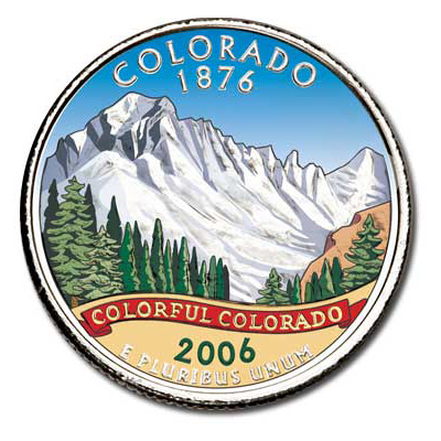 Image for 2006 Colorized Colorado Statehood Quarter from Littleton Coin Company