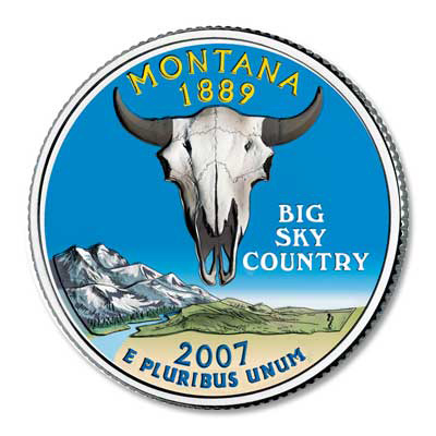 Image for 2007 Colorized Montana quarter from Littleton Coin Company