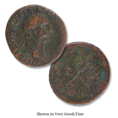 Image for A.D. 98-117 Trajan Bronze As from Littleton Coin Company