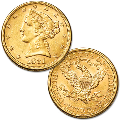 Image for 1866-1908 Gold $5 Liberty Head with Motto from Littleton Coin Company