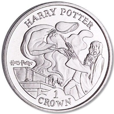 Image for 2004 Isle of Man Cupro-Nickel Harry Potter Crown, Harry's Patronus from Littleton Coin Company