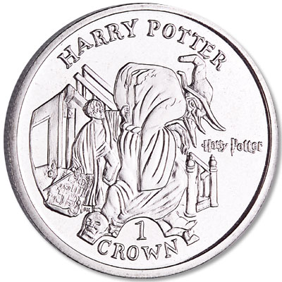 Image for 2004 Isle of Man Cupro-Nickel Harry Potter Crown, Maurader's Map from Littleton Coin Company