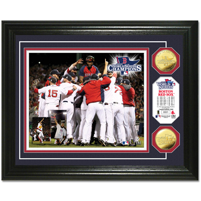 Image for 2013 World Series Champions - Official Framed Photo and Medallions from Littleton Coin Company