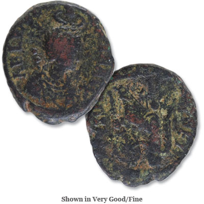 Image for A.D. 383-408 Aelia Eudoxia Bronze Reduced Follis from Littleton Coin Company