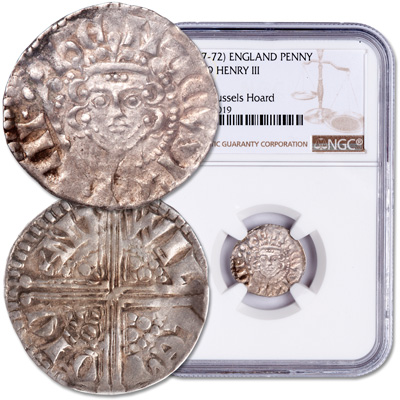 Image for A.D. 1247-1272 Henry III Long Cross Silver Penny from Littleton Coin Company