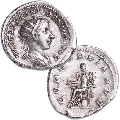 Image for A.D. 238-244 Gordian III Silver Antoninianus from Littleton Coin Company