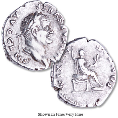Image for A.D. 69-79 Vespasian Silver Denarius from Littleton Coin Company