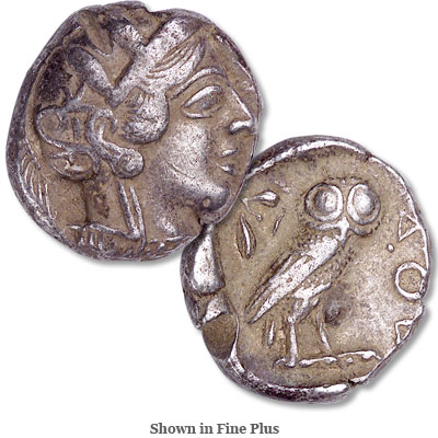 Image for 440-404 B.C. Athenian Owl Silver Tetradrachm from Littleton Coin Company
