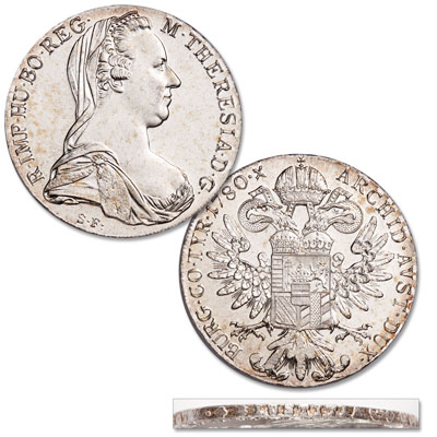 Image for 1780 Maria Theresa Silver Thaler, Restrike from Littleton Coin Company