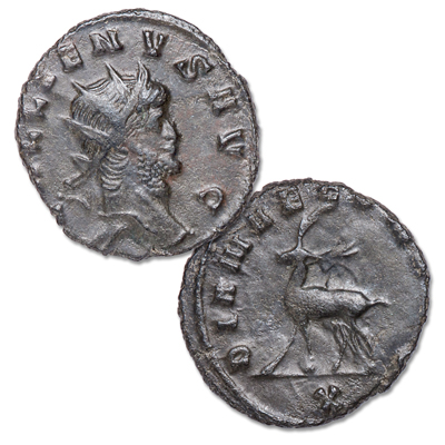 Image for A.D. 253-268 Gallienus Bronze Antoninianus Moose from Littleton Coin Company