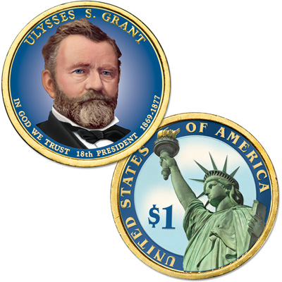 Image for 2011 Colorized Ulysses S. Grant Presidential Dollar from Littleton Coin Company