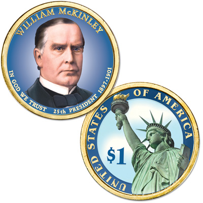 Image for 2013 Colorized William McKinley Presidential Dollar from Littleton Coin Company