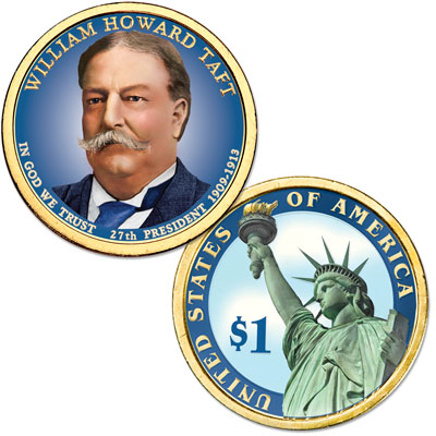 Image for 2013 Colorized William Howard Taft Presidential Dollar from Littleton Coin Company
