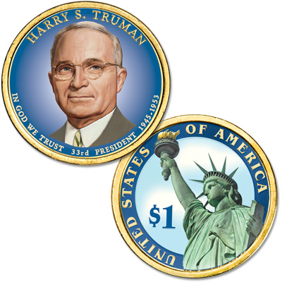 Image for 2015 Colorized Harry S. Truman Presidential Dollar from Littleton Coin Company